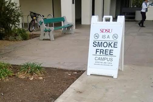 SDSU should ban the on-campus smoking ban