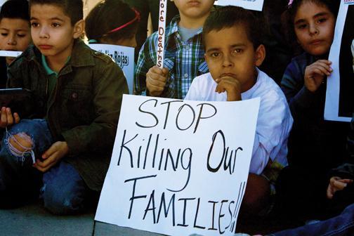 U.S. Border Patrol violence sparks protest