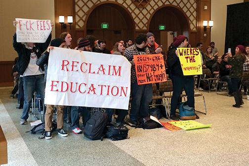 Student Success Fee protest ends in president's office