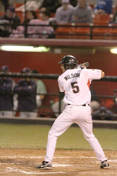 Senior designated hitter Chris Wilson hit the game-tying home run on Saturday. | File Photo