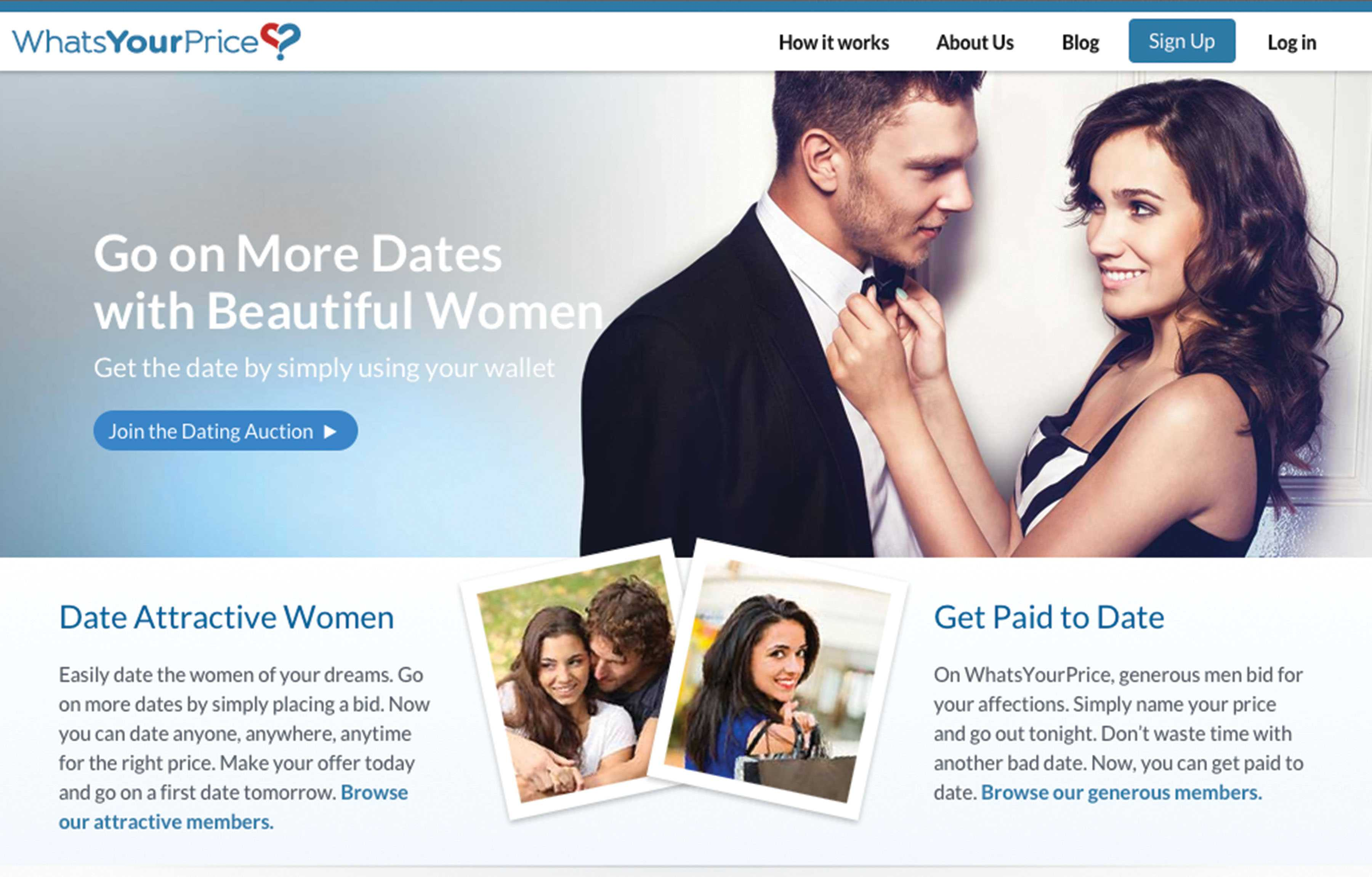 whats your price dating login
