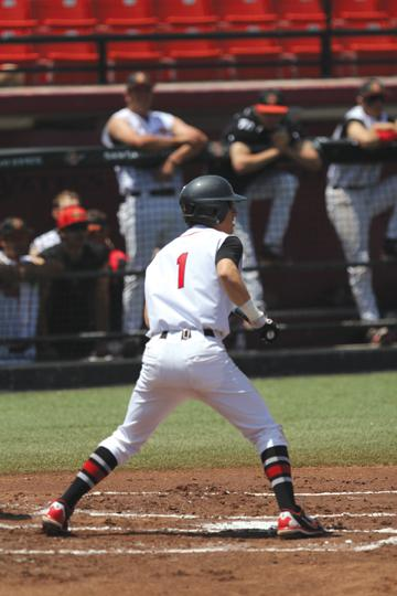 Freshman Matt Munoz recorded two hits Sunday. | Dustin Michelson, staff photographer