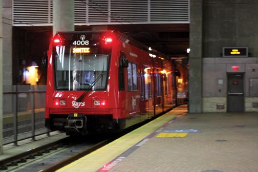 Fire temporarily closes trolley station, Adams Humanities