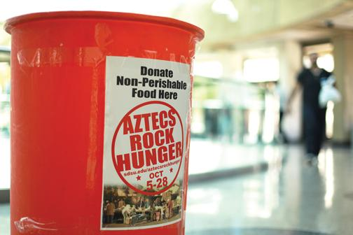 Because of COVID-19, Aztecs Rock Hunger had to plan for this year's food drive virtually, which was viewed as a new opportunity.
