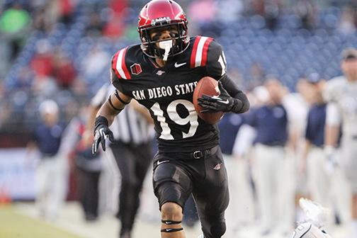Aztecs overthrow Air Force 27-20
