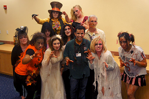Zombies grooved to Thriller at Cuicacalli