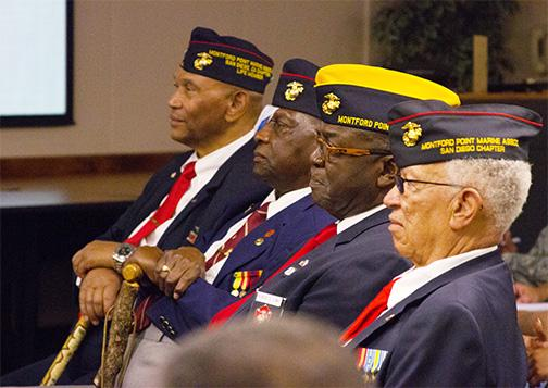First African-American Marines visit SDSU