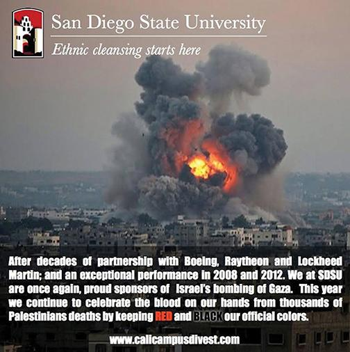 A satirical Facebook post created and published by Students for Justice in Palestine.