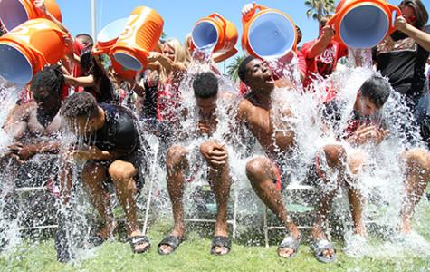 [VIDEO] SDSU men's basketball completes Ice Bucket Challenge