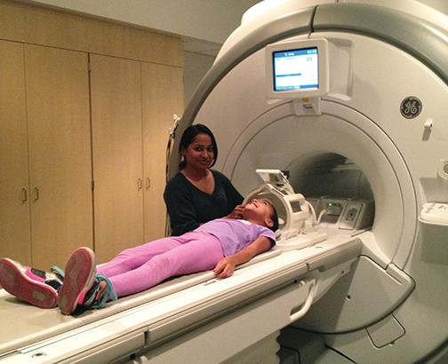 Child getting an MRI