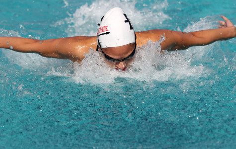 Aztecs swim past Toreros in pentathlon