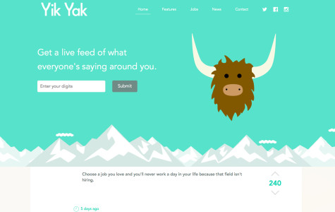 Screenshot of Yik Yak website