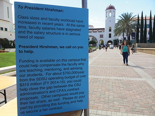 Faculty seek to settle contract on salaries