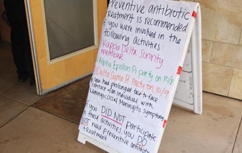 Professors stranded in meningitis scare
