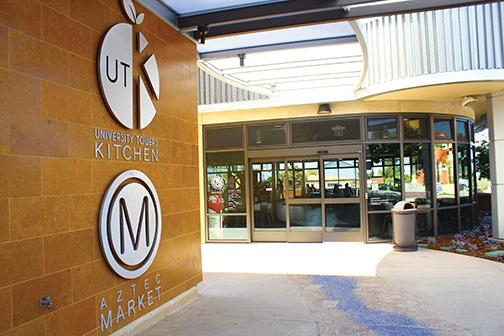 Entrance to University kitchen and aztec market