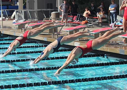 Swimmers steamroll competition in nashville the daily aztec for San diego state university swimming pool