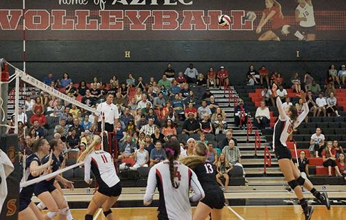 Volleyball continues with conference contest against Cowgirls