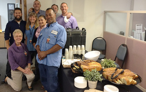 Alpha Kappa Psi appreciates faculty and staff with breakfast