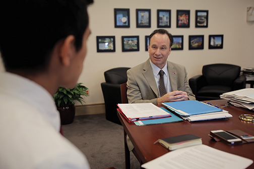 The State of State: President Hirshman discusses salary, sexual assault, mascot and more