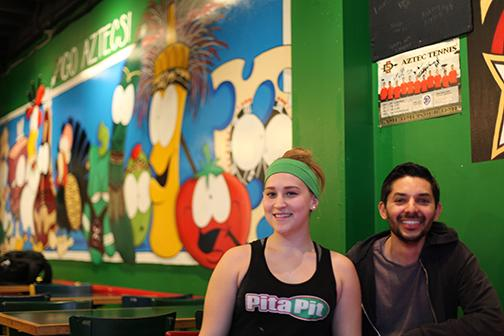 Pita+Pit+manager+Janiece+Giampolo+and+owner+Ed+Espinoza+prepared+to+close+at+the+end+of+the+week.+Both+were+proud+of+the+business+they+ran.