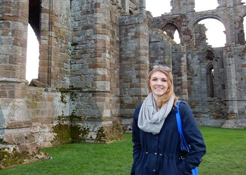 Student blogs while abroad
