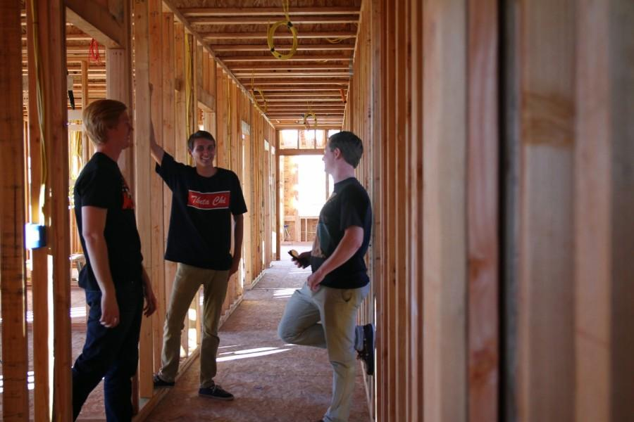 Theta Chi house construction advances ahead of schedule