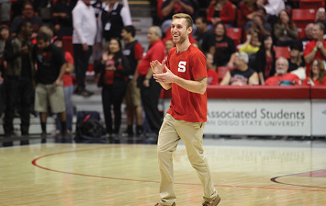 Student sinks lucky half-court shot