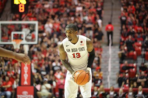 Aztecs trail Runnin' Rebels 29-23 at halftime
