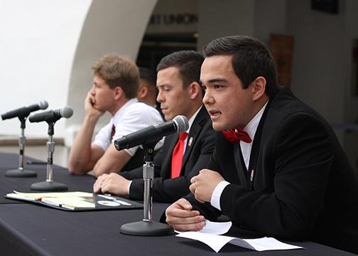 A.S. debates: VP for external relations and executive VP