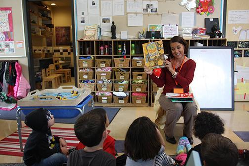 Reading at SDSU Children's Center