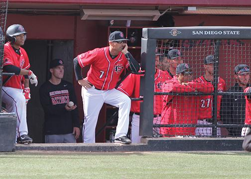 SDSU baseball coach Mark Martinez