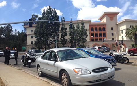Traffic collision on College and Alvarado