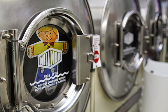Flat Stanley helps out with the laundry.