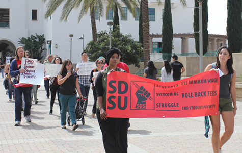 Rally at SDSU calls for $15 minimum wage
