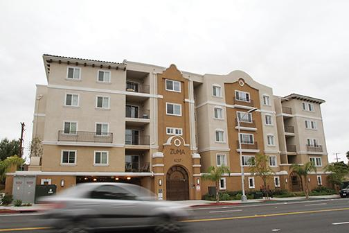 An apartment complex on Montezuma Road adjacent to campus. File photo