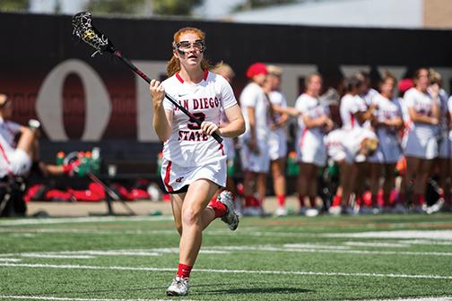 SDSU lacrosse nets first victory of the year at Saint Joseph's, 15-13