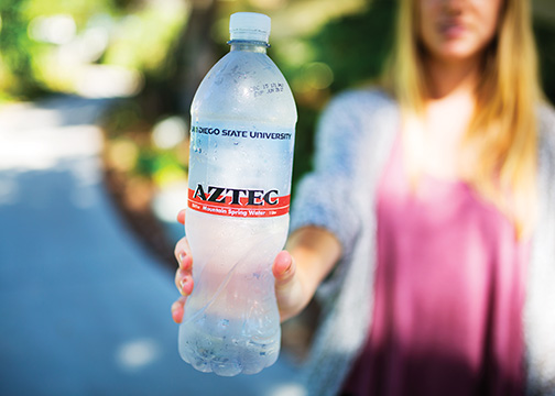 Aztec Mountain Spring Water sold in campus markets is not in accordance with California Health and Safety Codes.