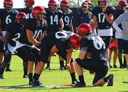 #AztecFB camp report: SDSU quarterback battle is 2-man show