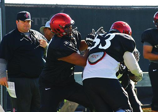 Coach Schmidt a staple of SDSU's offensive line success