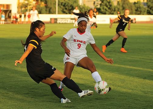Aztec women's soccer beats No. 17 Kentucky, faces two tough Pac-12 opponents this weekend