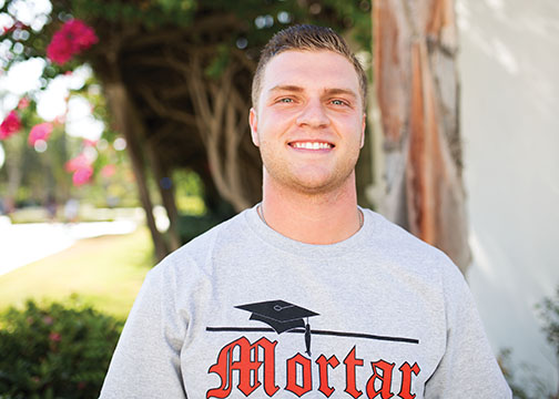 SDSU Mortar Board's new chapter Alexander Miller.