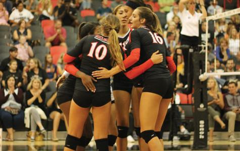 SDSU volleyball drops third game in a row, bested by No. 20 Rams