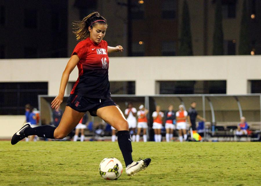 Aztec women's soccer opens homestand with 3-0 thumping of UNLV