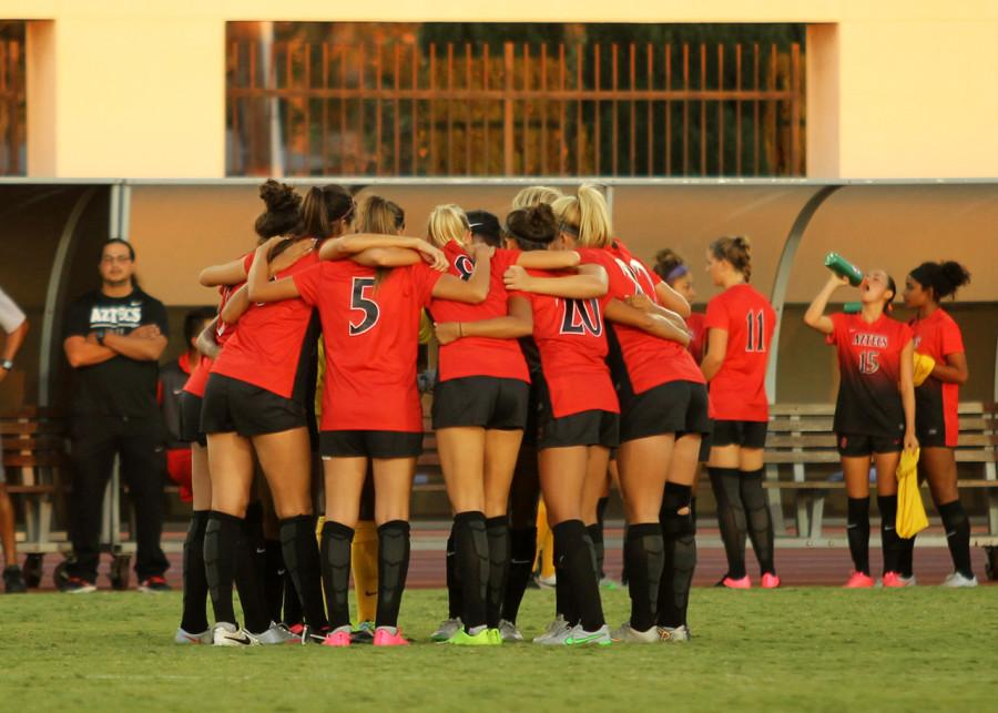 SDSU women's soccer holds off crosstown rival USD in wild finish