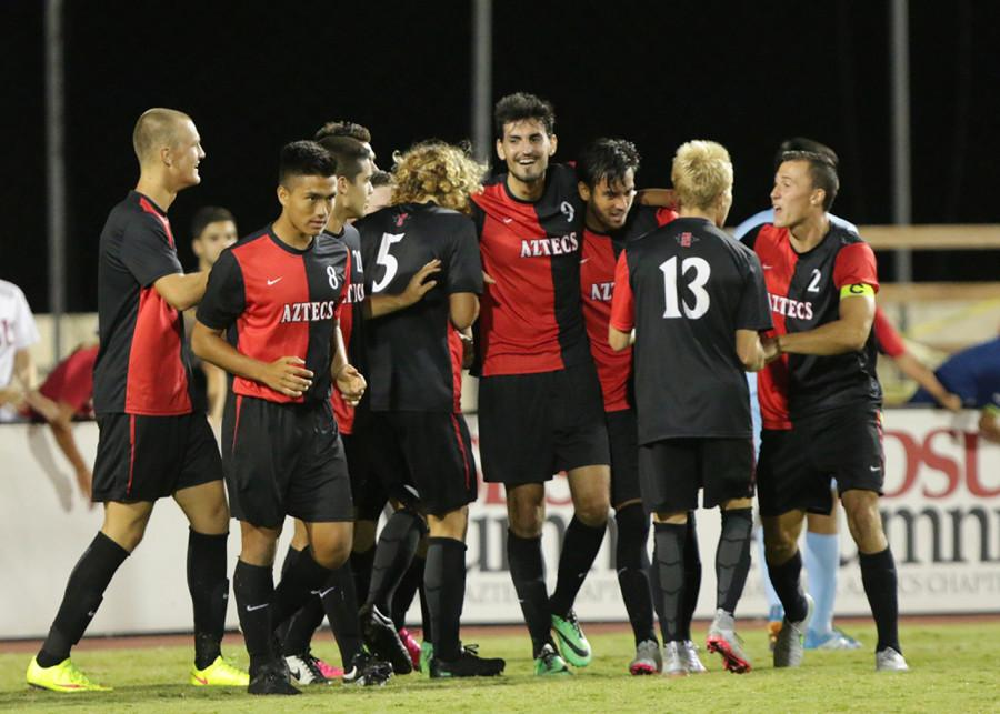 SDSU+men%27s+soccer+grinds+out+3-1+win+over+San+Diego+Christian