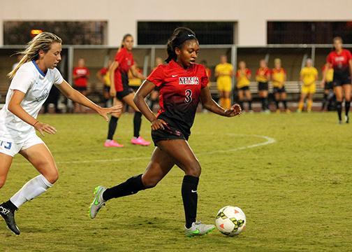 Aztec women's soccer surges past Nevada 4-0