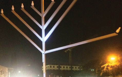 Menorah vandalized at Chabad House
