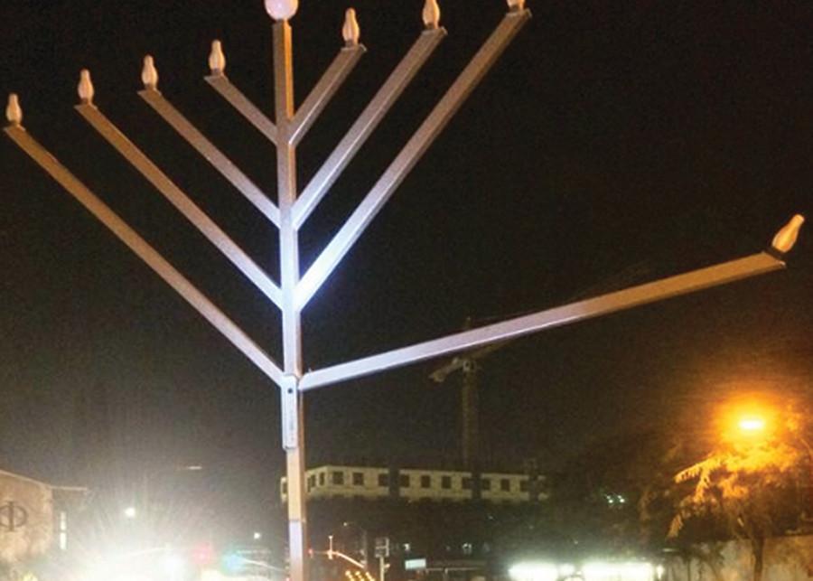 Menorah vandalized at Chabad House
