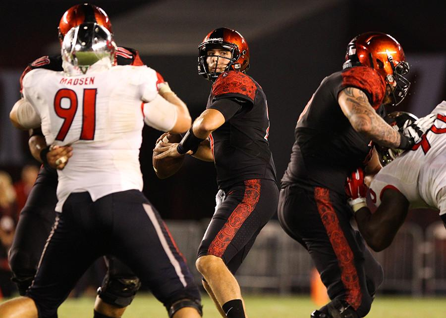 Aztec football prevails in San Jose with big 30-7 win over Spartans