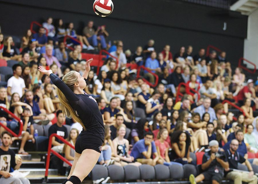 SDSU+volleyball+edged+in+thriller+against+Boise+State